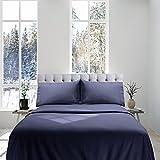 Genteele 100% Cotton Flannel Sheet Set - Luxurious Heavyweight - Ultra Soft Premium Velvety Quality 4 Piece Set - Queen, Gray