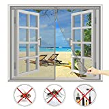 CHENG Mosquiteras imantadas 190x220cm, Cortina Magnética para Puerta, Adsorción magnética Plegable Fácil de Instalar, para Ventanas Batientes - Gris