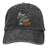 gymini Gorra de béisbol de algodón ajustable para hombre, diseño de pescado, pescado, pescador, unisex, para deportes, para papá, camionero, gorra de vaquero
