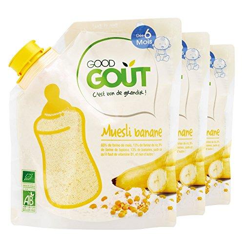 Good Goût - BIO - Céréales Muesli Banane 200 g dès 6 Mois - Lot de 3