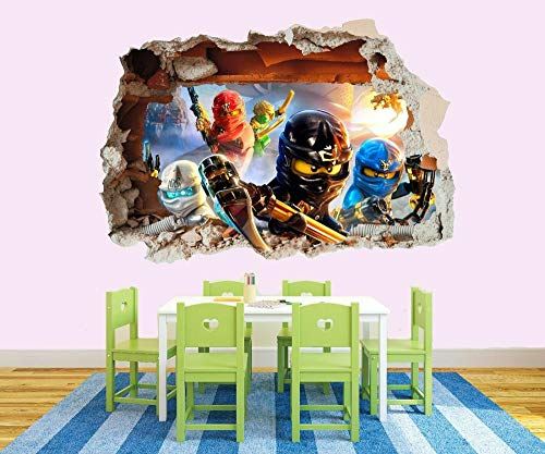 Wandtattoo 3D Ninja Film Große Freunde VINYL WALL STICKER DECALS KINDER 60 * 90CM