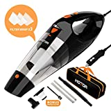 Car Vacuum, HOTOR Corded Car Vacuum Cleaner High Power for Quick Car Cleaning, DC 12V...