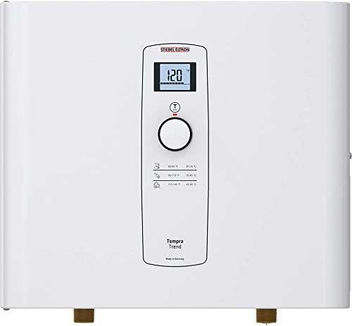 Stiebel Eltron Tankless Water Heater – Tempra 24 Trend – Electric, On Demand Hot Water, Eco, White