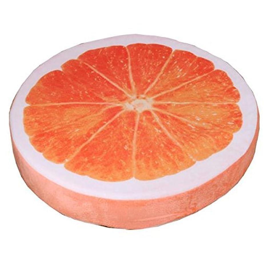 パイントシャツビジュアルHomeland クッション バックパッド 果物 座布団 低反発 円型 オレンジ