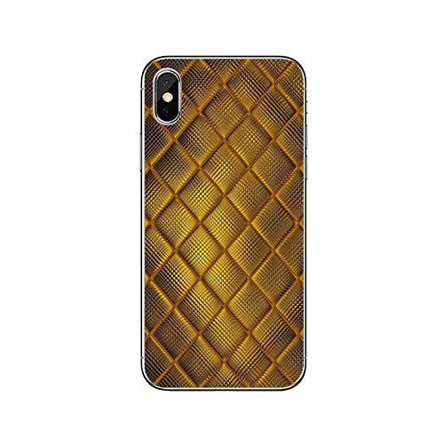 Phonecase - Carcasa blanda para Samsung Galaxy A10, A30, A40, A50, A60, A70, Huawei P30 Lite Pro P Smart Y6 2019, diseño dorado