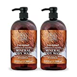 Dead Sea Collection Mineral Body Wash with Coconut Oil Moisturizes and Nourishes Set of 2 (33.8...