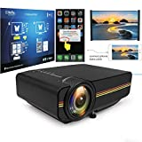 Shuaienfushi 1080P Home Cinema LCD Movie Projectors Mini Projector with Wired Synchronization Display