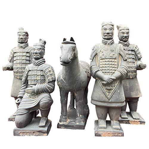 MGS Tongma Resina Guerreros De Terracota, 60cm Terracotta Warriors Ceramic Crafts, China Antigua Dinastía Qin Terracota Warriors Estatuas