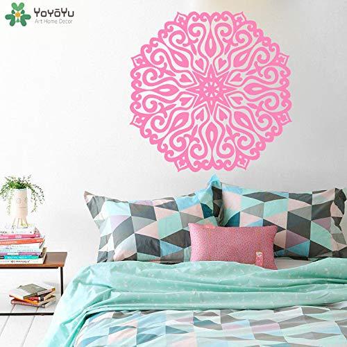 BailongXiao Mandala Blume Wandtattoo Mode Dekoration Zubehör Vinyl Wandaufkleber Bettwäsche Dekoration Abnehmbare Kunst 63x63 cm