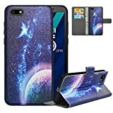 LFDZ Compatible with Huawei Y5 2018 Case,PU Leather Huawei Y5 2018 Wallet Case...