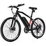 Cybertrack 300 27.5' Electric Mountain Bike, 500W/750W Peak Brushless Hub Motor, 40Miles Average...