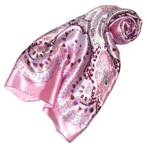 Lorenzo Cana Luxus Damen Seidentuch aufwändig bedruckt Tuch 100% Seide 90 x 90 cm harmonische Farben Damentuch Schaltuch 89081