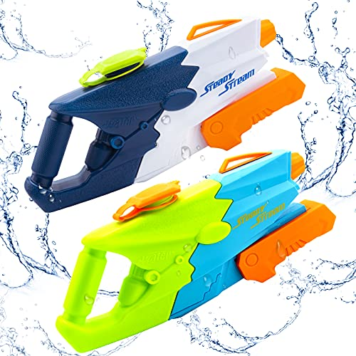 Water Guns for Kids,2 Pack Super Squirt Guns,Water Soaker Blaster 1100CC High Capacity Summer Swimming Pool Beach Party Favors Water Outdoor Fighting Toy for Toddlers,Kids,Adults,Seaside.