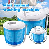 Mini Manual Washing Machine, Portable Washer And Rotary Dryer For Small Space, Manual Laminated Washer with Drying Basket Gift for Washing Baby Clothes, Diapers and Delicate Skirts