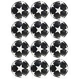 Clispeed Lot de 12 balles de rechange pour baby-foot de babyfoot de remplacement Multicolore Multicolore Accessoire Balle Blanc Noir