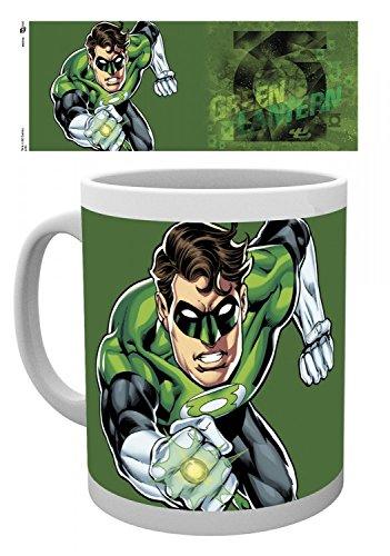 1art1 Linterna Verde, Justice League, DC Comics Taza Foto (9x8 cm) Y 1x Pegatina Sorpresa