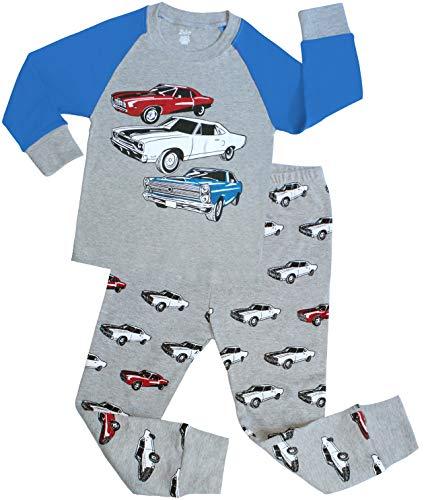 shelry Boys Cars Pajamas Children Christmas PJs 100% Cotton Size 10 Years