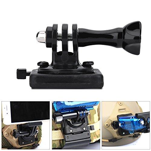 Support De Caméra pour Casque, Support pour Adaptateur De Base De Casque Fixe Tactique pour Caméra Sport Caméscope