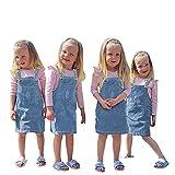 YWLINK Falda De Tirantes De Mezclilla Para NiñAs,Pantalones Vaqueros De Mezclilla Pantalones Cortos Con Tirantes Mono De Mezclilla Para BebéS Mono Informal,Falda De Mezclilla Lavada De Color Liso
