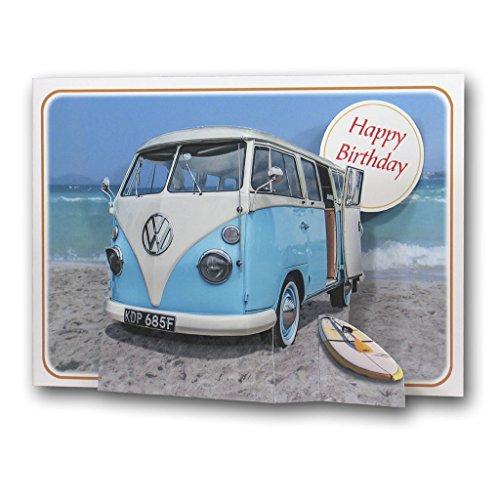 Happy Birthday - Campervan - Camper Van - Pictoria Press 3D Pop Up Greeting...