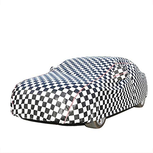 HRFHLHY Black and Blue Plaid Oxford Car Cover Kompatibel mit Bentley: Continental, Flying Spur, GT, GT Speed, GTC, Mulsanne, Geschwindigkeit,Schwarz,GT