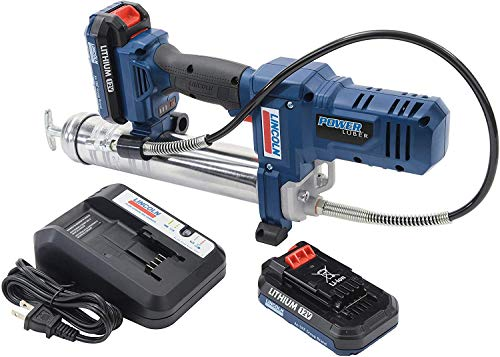 Lincoln 1262 PowerLuber Battery Powered 12 Volt Lithium Ion Cordless Professional Grease Gun 8000 PSI Easy Priming with a 3 Point Base to Keep the Gun Upright and Stable