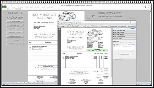 Rechnungsprogramm KFZ Werkstatt mit Reifenlager, Kundendatenbank, Erinnerungsfunktion, Produktpalette und PDF Funktion