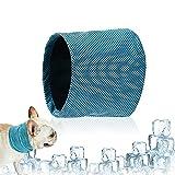Collar Refrigerante para Perros,Collar de Enfriamiento para Mascotas,Pañuelo Refrescante para Perros,Bandana de Enfriamiento para Perros (M)