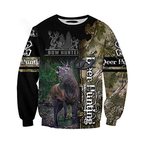 Tier Tattoo Camo Deer Hunter Elch Jagd Trainingsanzug 3D-Druck Reißverschluss/Hoodies/Sweatshirts/Jacke Sweatshirts XXXL