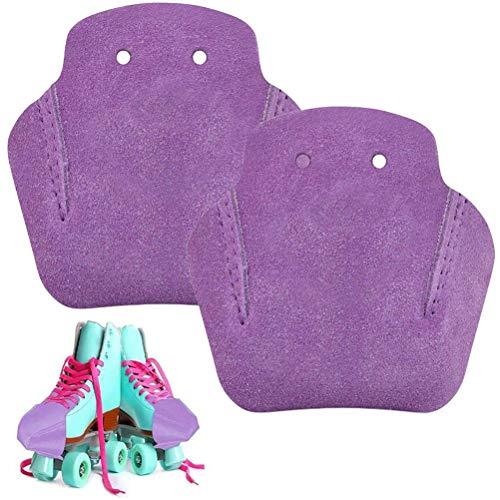 Nevay Protectores de puntera para patín de piel artificial para patines, resistente al desgaste y antideslizante, varios colores