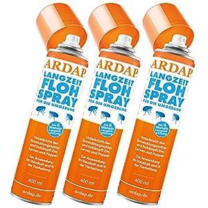 3 x 400 ml Ardap Langzeit Flohspray für die Umgebung Quiko Das Original 1
