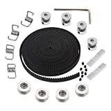 KeeYees 5M GT2 Timing Belt 6mm Width + 4pcs 20 Teeth 5mm Bore Belt Pulley Wheel + 4pcs Idl...