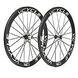 VCYCLE 700C Fibra di Carbonio Bici da Corsa Ruote 50mm Copertoncino 23mm Larghezza 1700g Shimano o Sram 8/9/10/11 Velocità