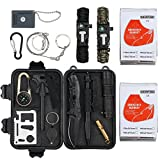 Justech Emergency Survival Kit 16 in 1 Outdoor Survival Gear Kit SOS Tool