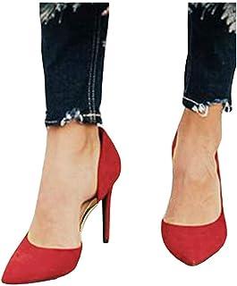 LAICIGO Women's D'Orsay High Heels Stilettos Pointed Toe...