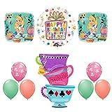 Anagram Alice in Wonderland Tea Party Birthday Balloons Decoration Supplies Tea Cup