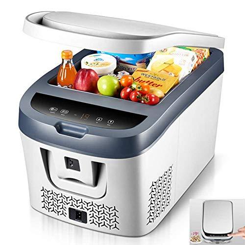 TUNBG draagbare compressor koelkast vrieskast 28L / 38L DC 12V high-performance koelbox kan lager zijn dan de omgevingstemperatuur 19 ° C (kleur: wit, maat: 38L) 8fd9cdd8f4db2bd633174a12abc