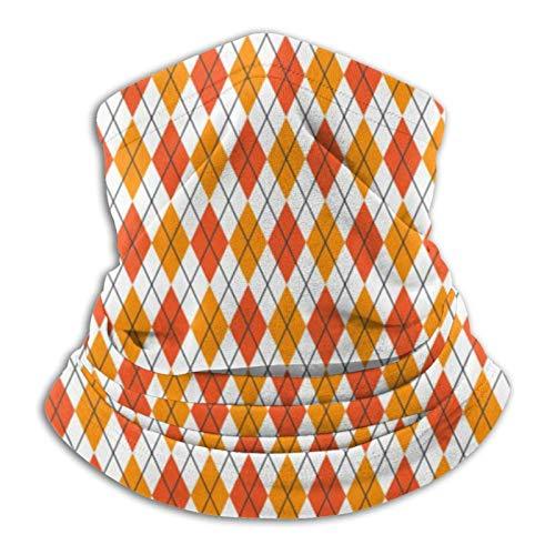 63251vdgxdg Pañuelos unisex sin costuras, color naranja y blanco