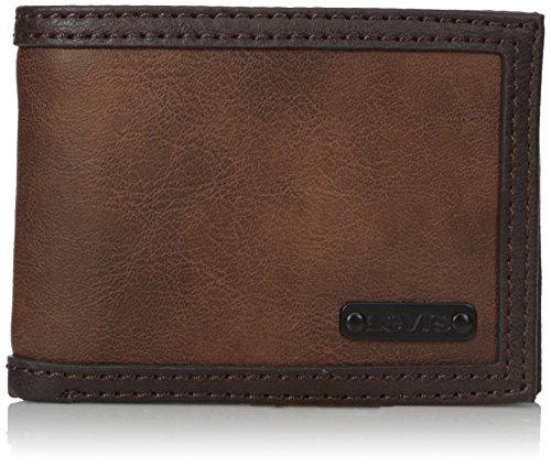 Levi's Billetera delgada de capacidad extra para hombre - marrón - talla única
