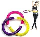Wanjia Soft Hula Hoop Cintura Delgada posparto para Las Mujeres Perder Peso y Levantar Lados Aptitud Interior para Correr Deportes Equipo de Fitness de Salud Masaje