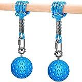 SELEWARE Pull Up Power Ball Hold Grips Durable Non-Slip Hand Grips Strength Trainer Exerciser for Bouldering, Pull-up, Kettlebells, Fitness, Workout Climbing, Blue (2 Pack)