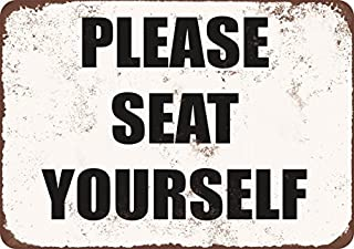 Please Seat Yourself Vintage Look Metal Tin Sign 12X18 Inches