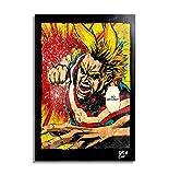 Arthole.it All Might de My Hero Academia (Boku no Hero) - Pintura Enmarcado Original, Imagen Pop-Art...