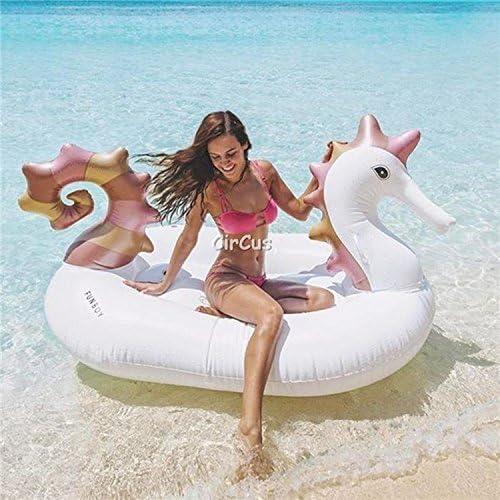 aoeiuv Pvc-Aufblasbare Sich Hin- Und Herbewegende Reihe Seahorse Bringt Erwachsene Und Kinder 220  120  100Cm An