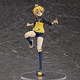 Kagamine Ren, altura 23 cm / 9 cm (pulgadas), material de PVC animación, bien hecho, aspecto exquisito, excelente diseño, valor para dinero, (colección decorativa) adornos de regalo