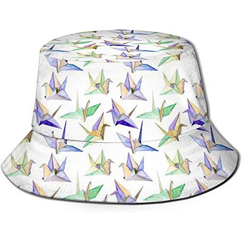 Strawberryran Origami Bucket Hat Summer UV Sun Fisherman Cap Unisex para Viajes...