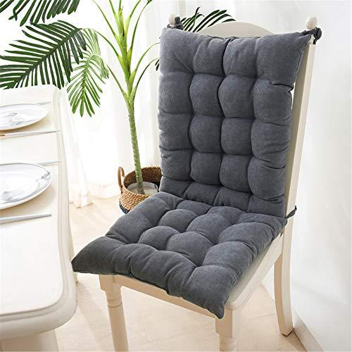EXQULEG Coussin de chaise à dossier bas - Coussin de chaise - Coussin de chaise pour extérieur et jardin - 40 x 95 x 8 cm - Gris