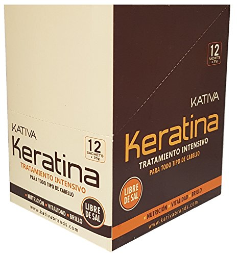 KATIVA Tratamiento de Keratina, Único, 510 Gramoss, 12uni/35gr
