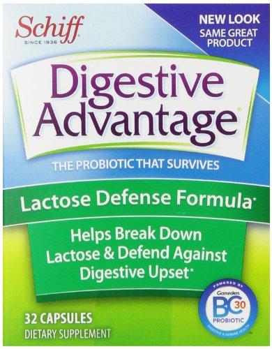 Digestive Advantage Lactose Defense Formula Probiotic Capsules, Dietary Supplement, 32 Count (Pack of 4)