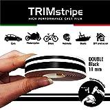 4R Quattroerre.it 10510 Trim Stripes Strisce Adesive per Auto, Nero, 2F 11 mm x 10 mt